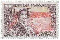 Timbre 1246 et 1247 France 1960