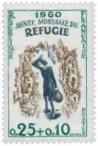 Timbre 1253 France 1960