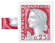 Timbre 1263 type I France 1960