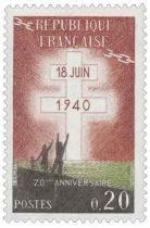 Timbre 1264 France 1960