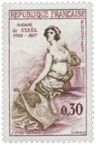 Timbre 1269 France 1960