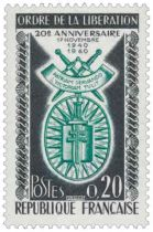 Timbre 1272 France 1960