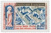 Timbre 1280 France 1960