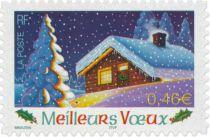 Timbre Adhésif France Meilleurs Voeux 2002 Yvert 34