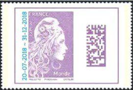 Timbre France Paire Marianne l\'engagée Surchargées 2018
