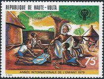Timbres Haute Volta Année Internationale de l\'Enfant 1979