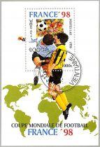 Timbres Laos Football France 1998