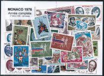 Timbres Monaco Année Complète 1976