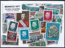 Timbres Monaco Année Complète 1977