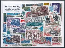 Timbres Monaco Année Complète 1978