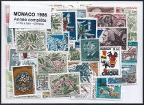 Timbres Monaco Année Complète 1986