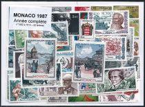 Timbres Monaco Année Complète 1987