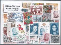 Timbres Monaco Année Complète 1989