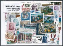 Timbres Monaco Année Complète 1990