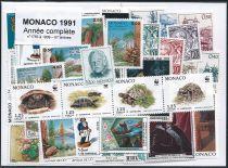 Timbres Monaco Année Complète 1991