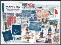 Timbres Monaco Année Complète 1992