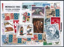 Timbres Monaco Année Complète 1993