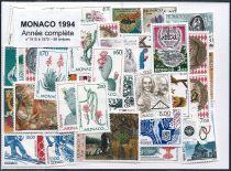 Timbres Monaco Année Complète 1994