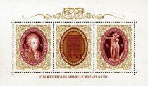 Wolfgang Amadeus Mozart Autriche Bloc 15