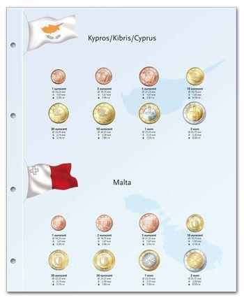 Feuille Euro Monnaie Chypre-Malte