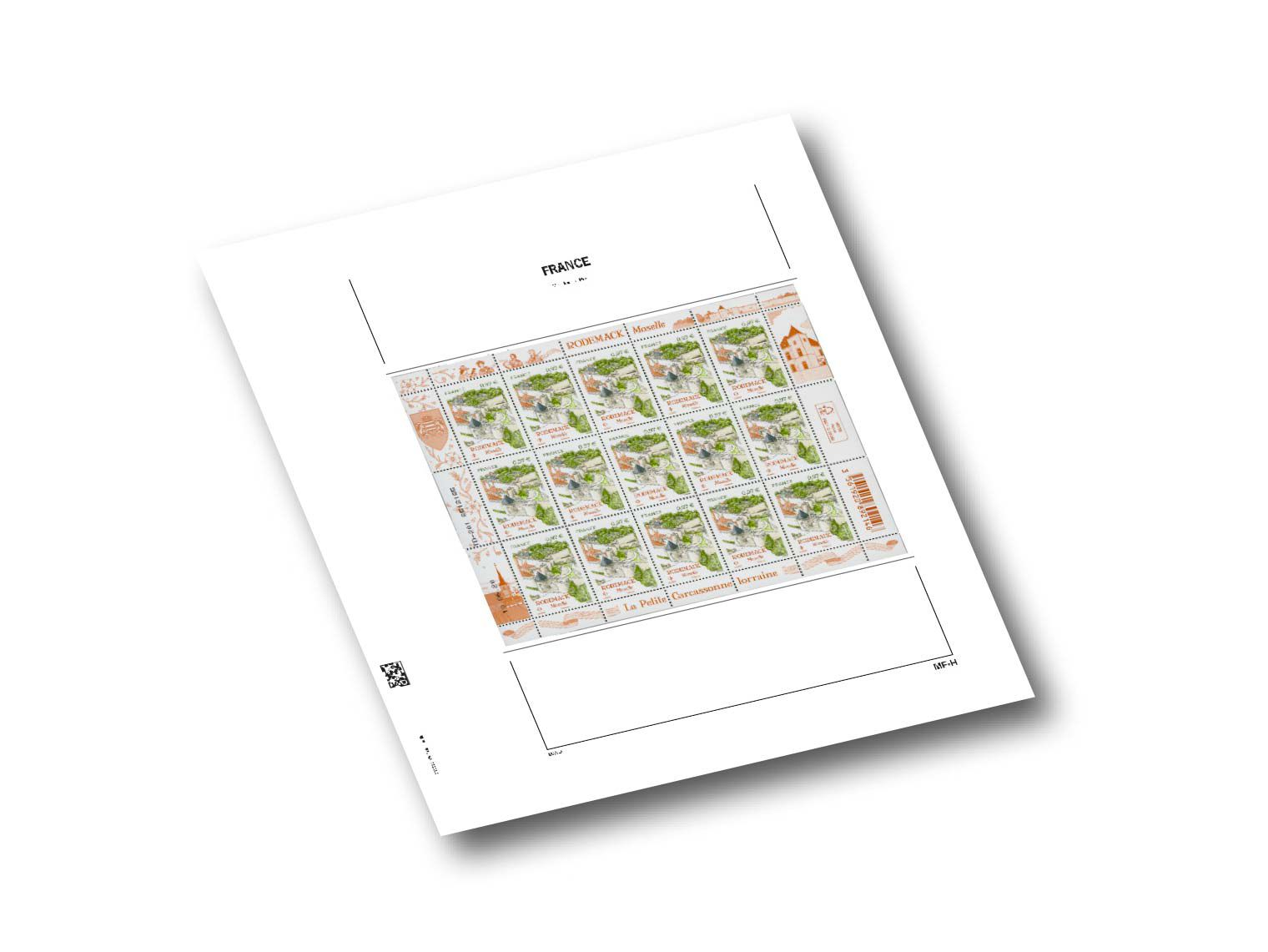 Feuilles Luxe France pour Mini-Feuilles Horizontales MF-H (x3) DAVO