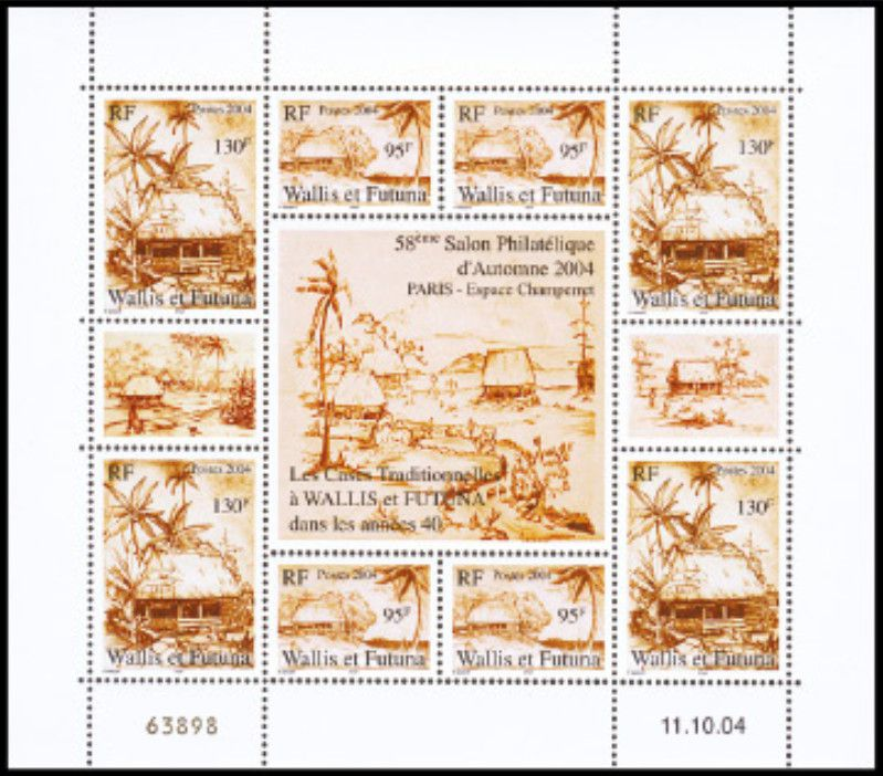 Timbre Bloc 18 Wallis et Futuna 2004