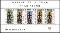 Timbre Bloc 5 Wallis et Futuna 1991