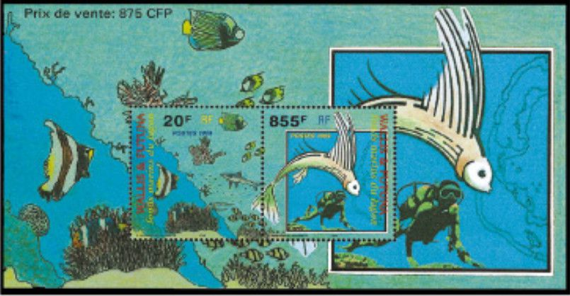 Timbre Bloc 8 Wallis et Futuna 1999